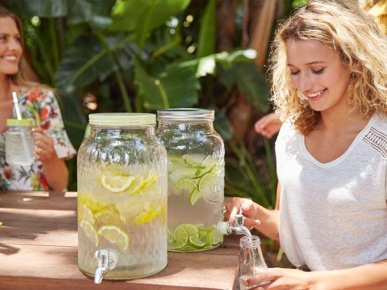 Ernesto Getränkespender Glas mit Hahn bis zu 6l 6,99€ bei [Lidl]