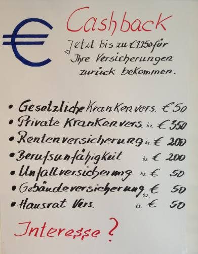 [Lokal?] [Heinsberg] Cashback für diverse Versicherungen