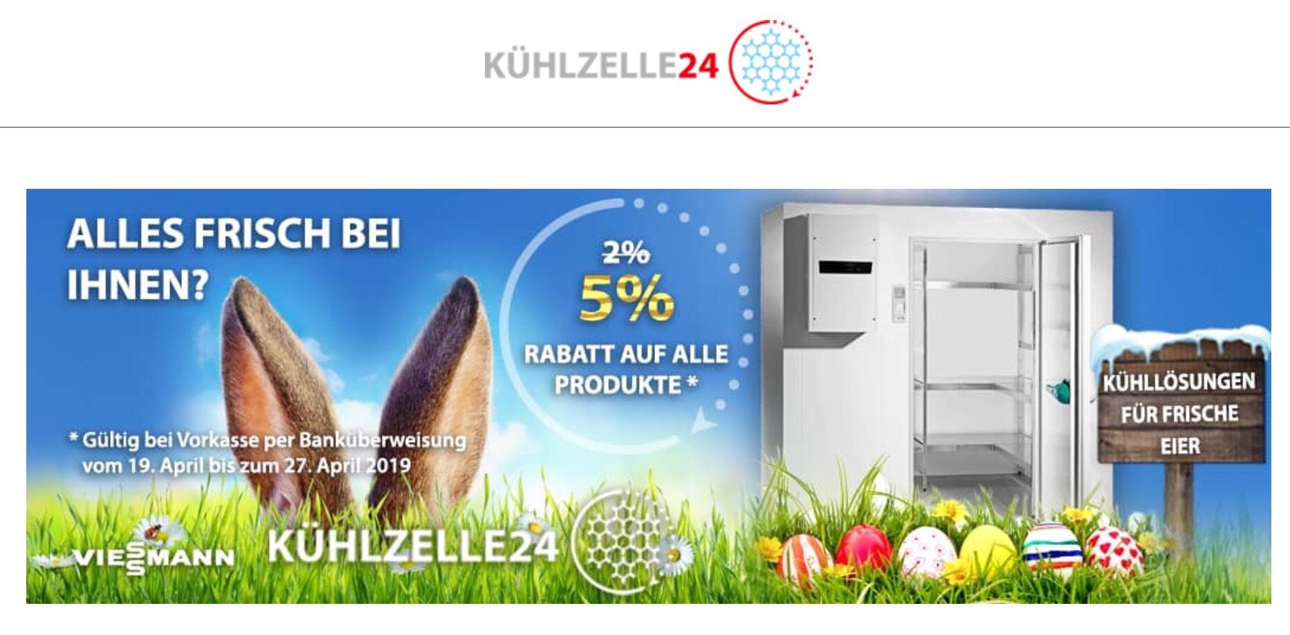 Eiskalter Gewerbedeal - Kühlzelle24 macht eure Eier frisch ;)