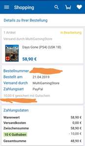 (Check24), Days Gone, Ps4