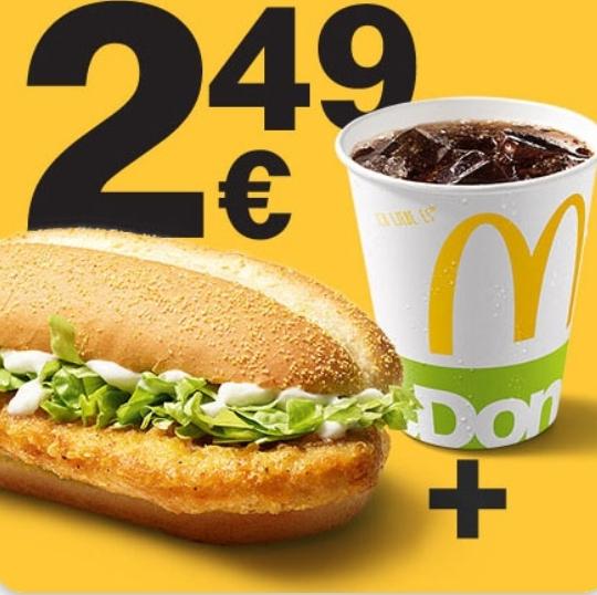 McChicken Classic + 0,25L Getränk [McDonalds App]