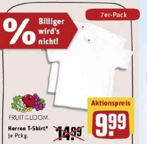 [Rewe offline] Fruit of the loom T-Shirt 7er Pack 1,42€/Stück