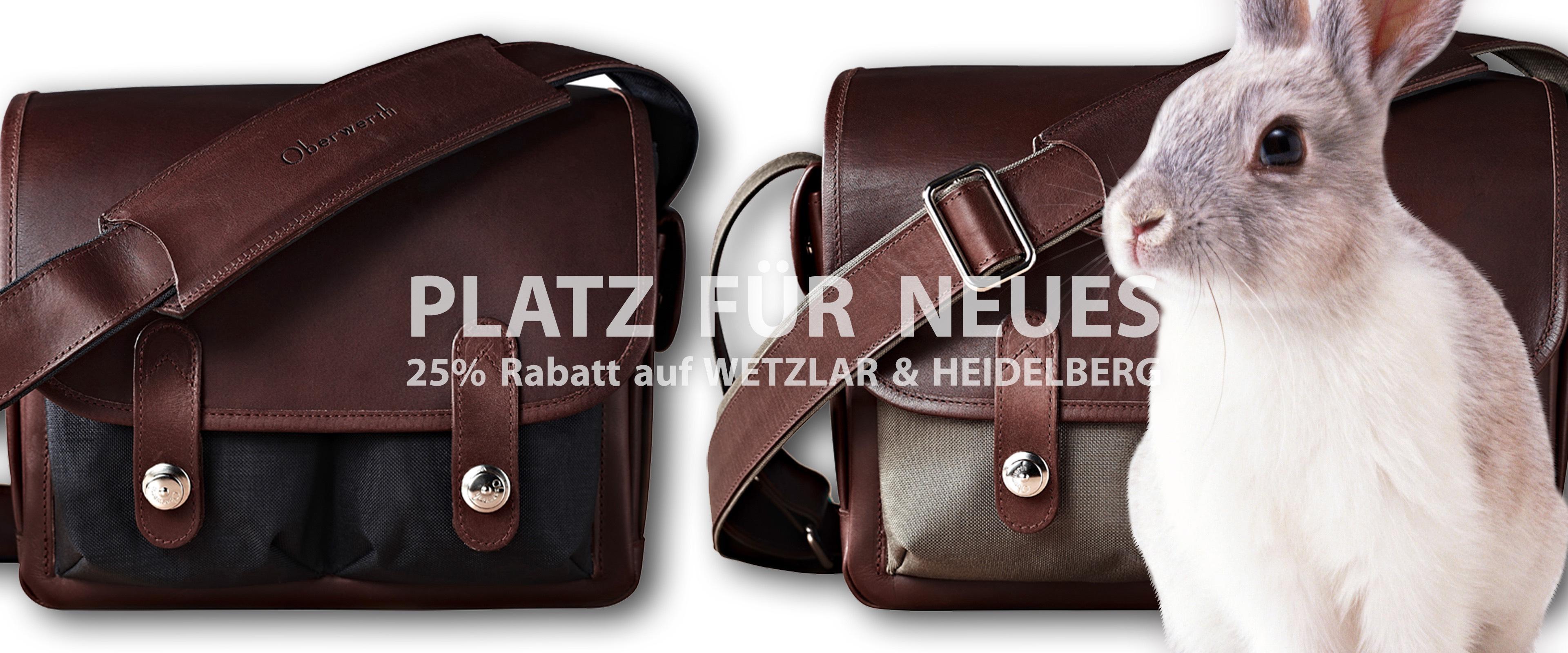 25 % Rabatt auf Hochwertige Fototaschen von Oberwerth