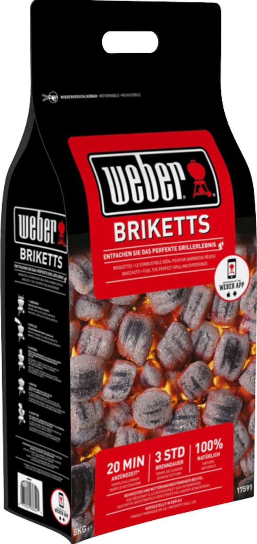 Weber Briketts 8 kg Tüte für 12€ bei Abholung  (3x 8 kg Tüte + NL-Gutschein für 35,90€ inkl. Versand ) [Globus Baumarkt]