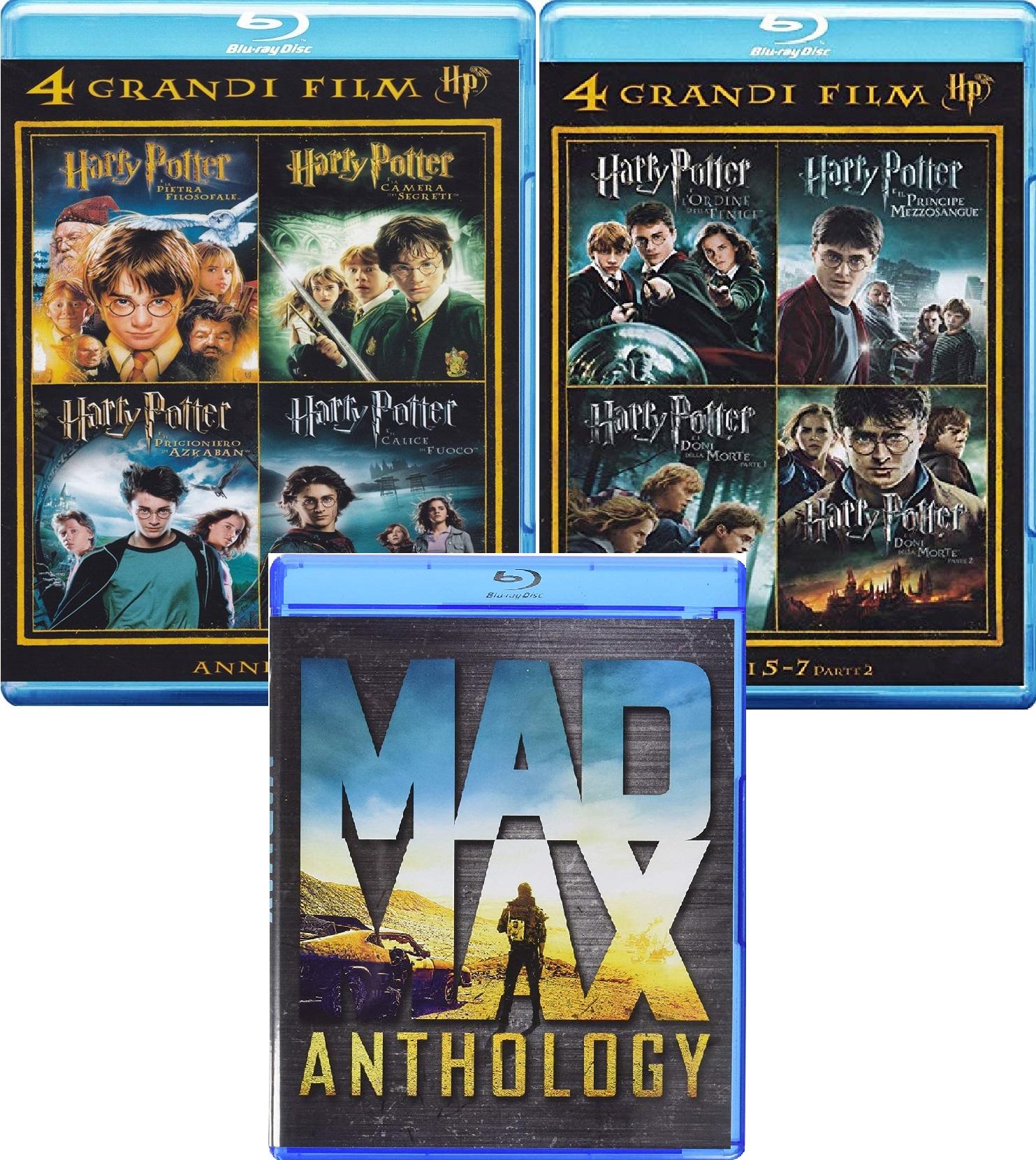 [Amazon.it] Harry Potter 1-7.2 + Mad Max Anthology Blu-ray zusammen für nur 24,35 inkl. Versand