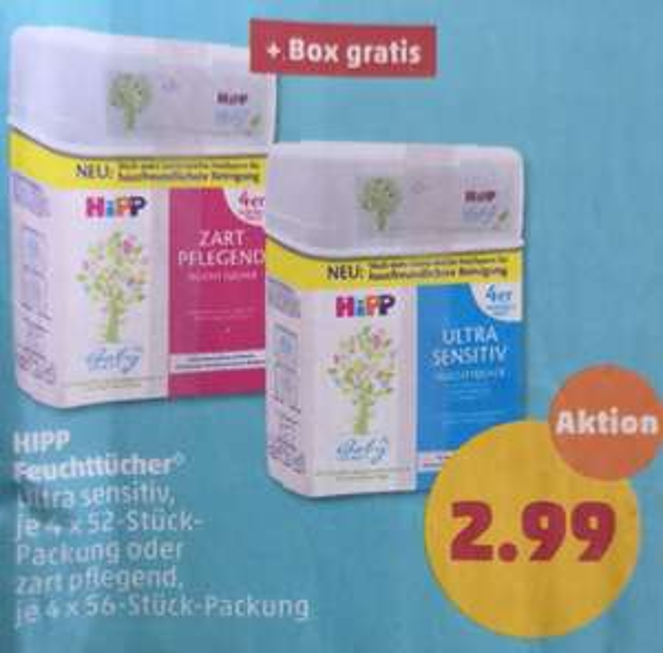Penny - HiPP - Feuchttücher + Box gratis