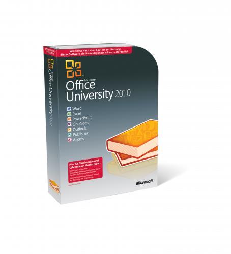 Microsoft Office University 2010 inkl. Update auf neue Version im Frühjahr (Windows)