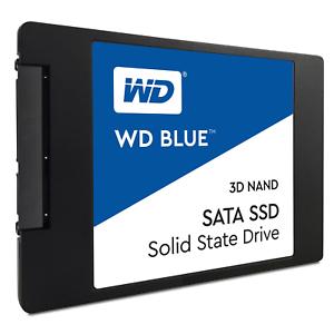 Western Digital WD Blue 1TB 3D-NAND TLC SSD (SATA, 1024 DDR Cache, 5 Jahre Garantie) WDS100T2B0A