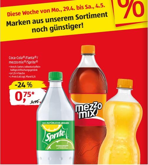 [Aldi Süd ab 29.04.] Coca Cola / Fanta / Sprite im Angebot