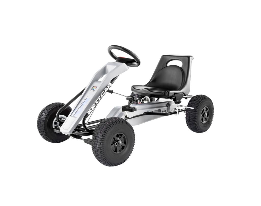 Kettler Kettcar Air - Pedal-Rennwagen | mit Luftbereifung, Handbremse und zuschaltbarem Freilauf