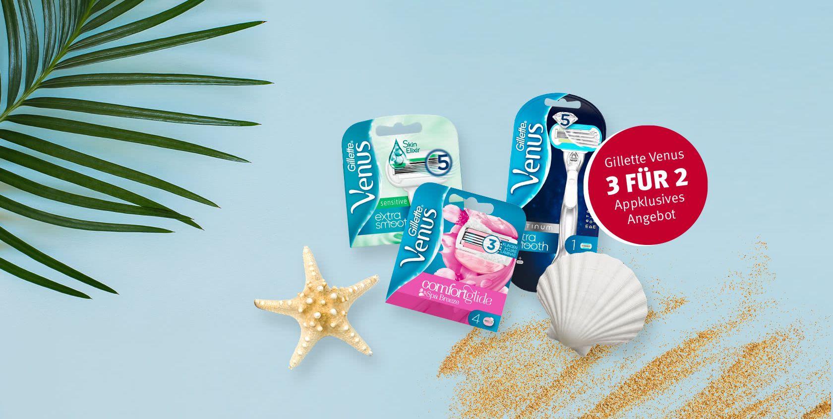 Gillette Venus 3 für 2 - 2 klingenpackungen kaufen, 1 Rasierer kostenlos