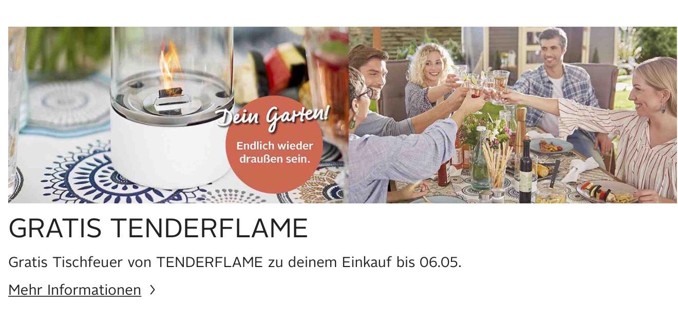 Gratis Tischfeuer von Tenderflame beim MBW von 250€ im Gartensortiment für die ersten 1.000 Besteller