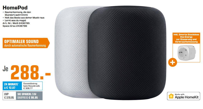 "Apple Homepod + Elgato Eve Energy für 288€ (Abholung) | Sony KD-55XF9005 55"" 4K UHD Smart TV (120 Hz, VA, 10bit) für 899€ (VSK-frei)"