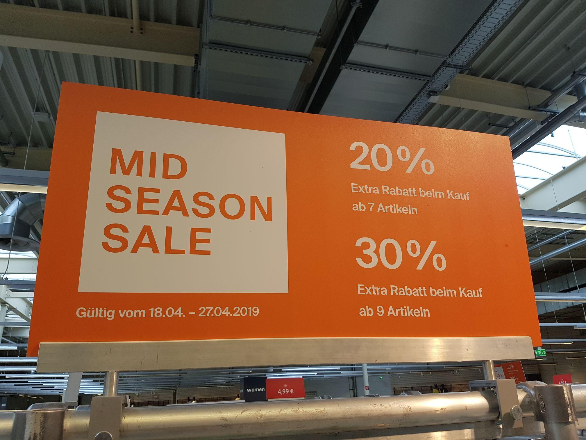 Lokal Ratingen Esprit Outlet 20% (30%) extra Rabatt