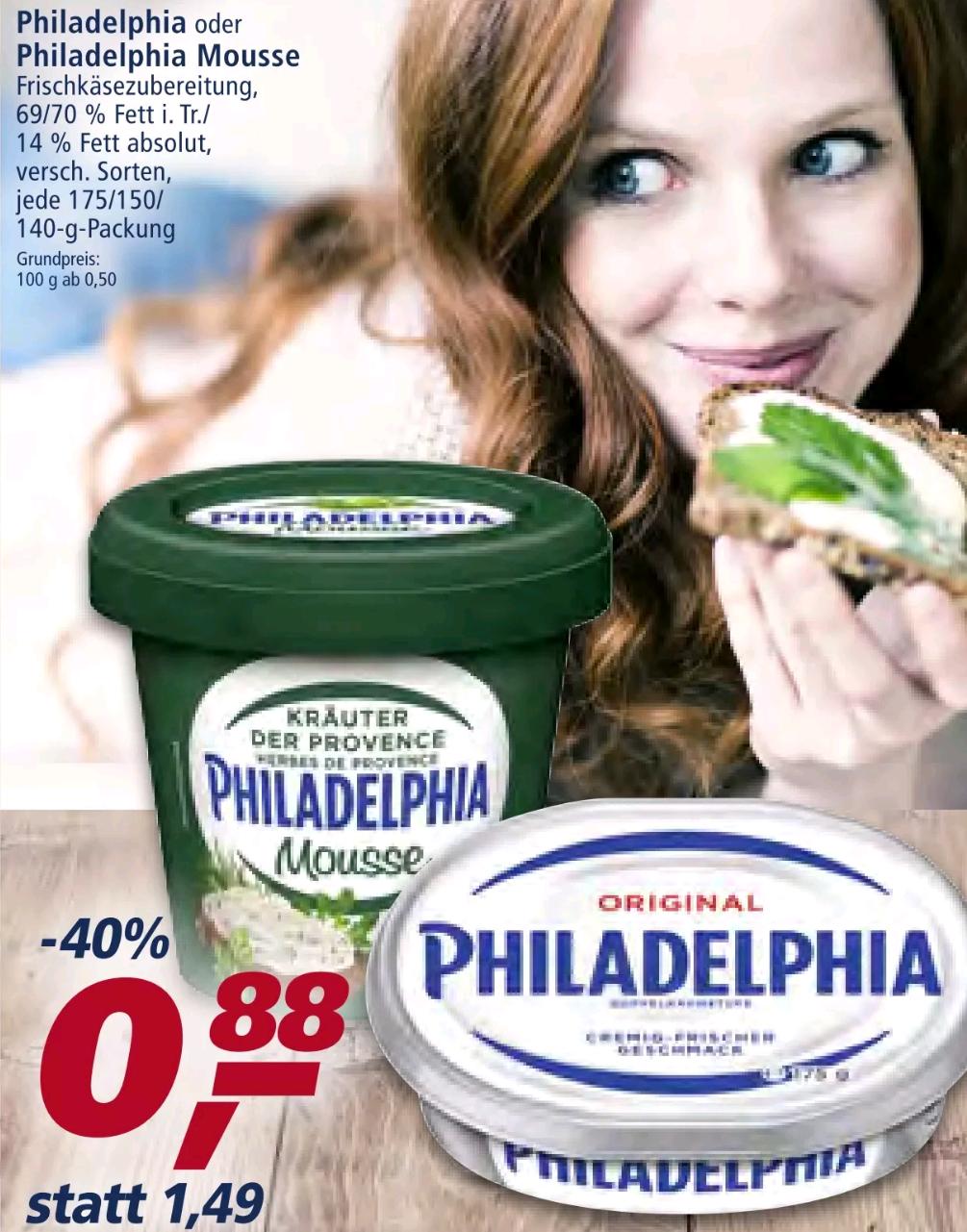 Philadelphia Statt 1,49 nur 0.88 € [ Real Markt ]