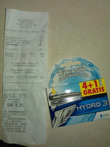 Hydro 3 4+1 Gratis für 5,95€ DM NBG