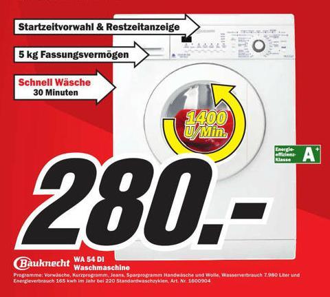 Bauknecht WA 54 DI Waschmaschine A+ lokal beim MM in Esslingen