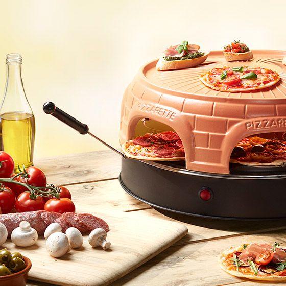 Emerio Pizza Ofen für 6 Personen mit Warmhaltefunktion