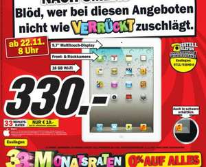 Ipad2 WiFi 16GB lokal beim MM in Esslingen