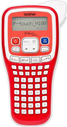 Beschriftungsgerät Brother P-Touch H100R (180dpi, 2 Druckzeilen, 9mm Druckhöhe, 20mm/s Druckgeschwindigkeit, 3 Schriftgrößen & 9 -stile)