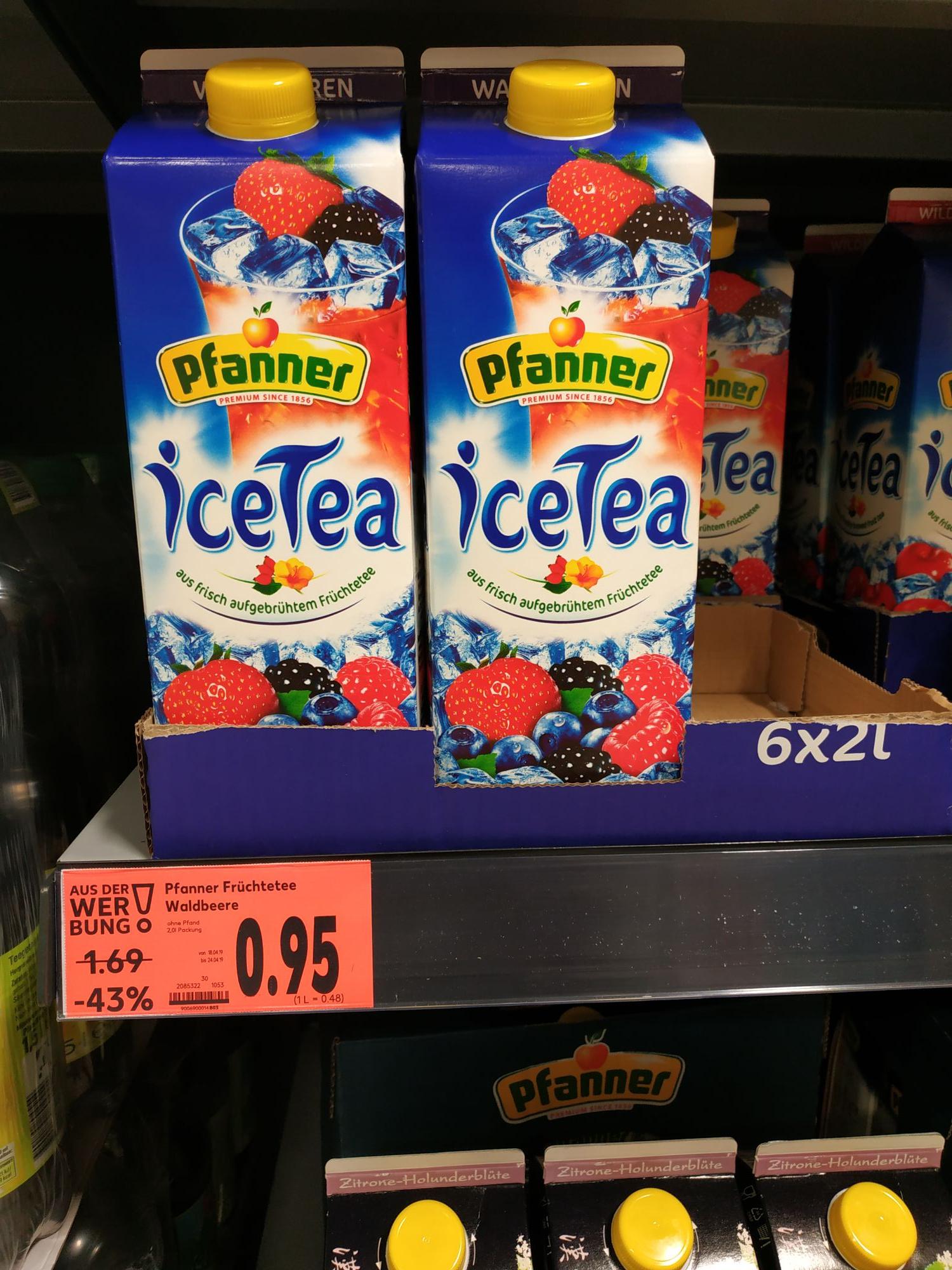 Pfanner Eistee, mehrere sorten für 0,95€, Kaufland [Aalen]
