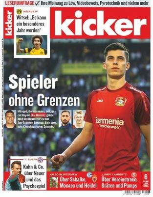 13 Ausgaben vom Kicker mit 57,72€ Verrechnungsscheck