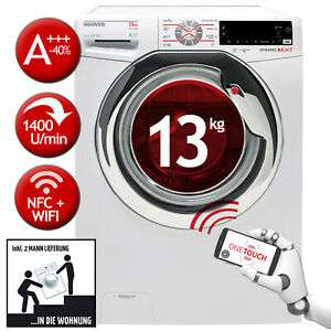 Waschmaschine Hoover DWOT 413AHC3/1-S (13kg, 1400 U/min, A+++ - 40%, 14 Programme, Dampffunktion, WLAN & NFC, Inverter-Motor)