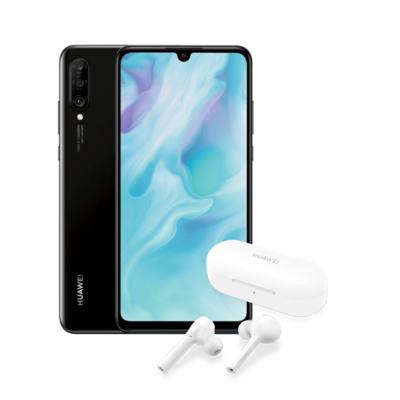 Huawei P30 Lite mit Blau Allnet XL (5GB LTE, mtl. 15,99€) inkl. FreeBuds-Lite-Kopfhörer für 1€ Zuzahlung + 4,99€ VSK + ohne AG