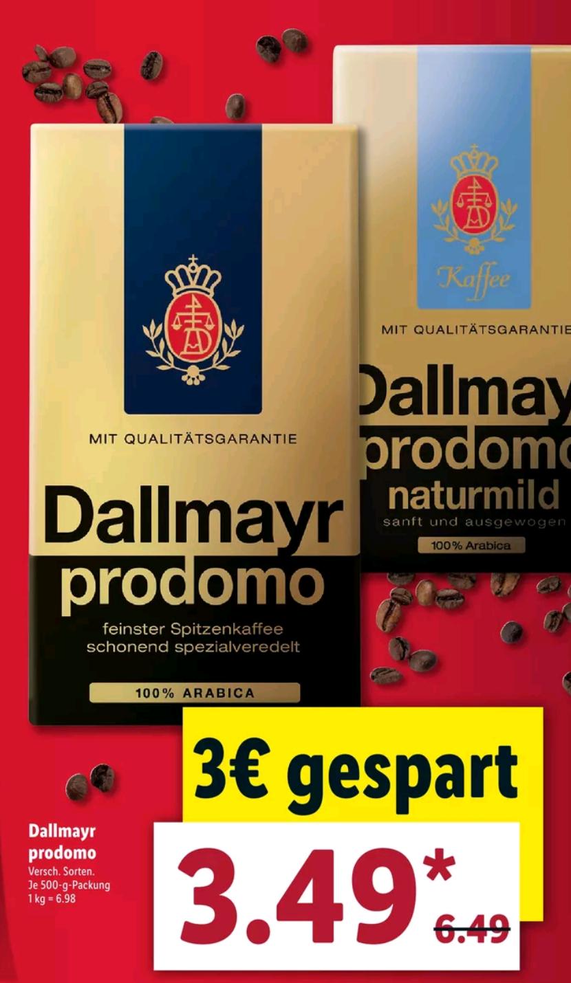 Dallmayr Prodomo500 Gramm Packung [ Lidl ]