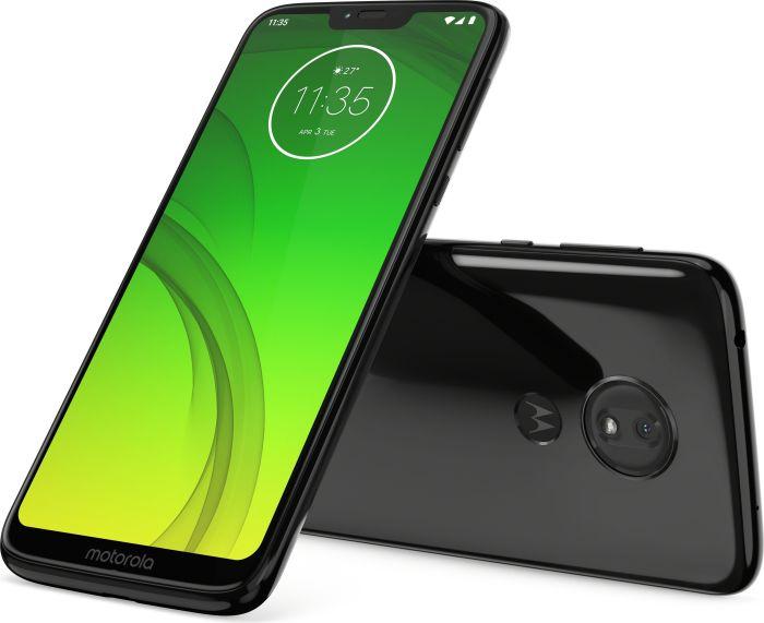 "Motorola Moto G7 Power 6.2"" Dual-SIM Smartphone (64GB, 4GB RAM, USB-C, 5000mAh) Ceramic Black / Iced Violet"