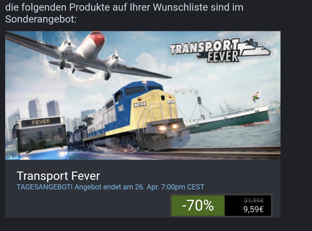 [steam] Transport fever (Pc)