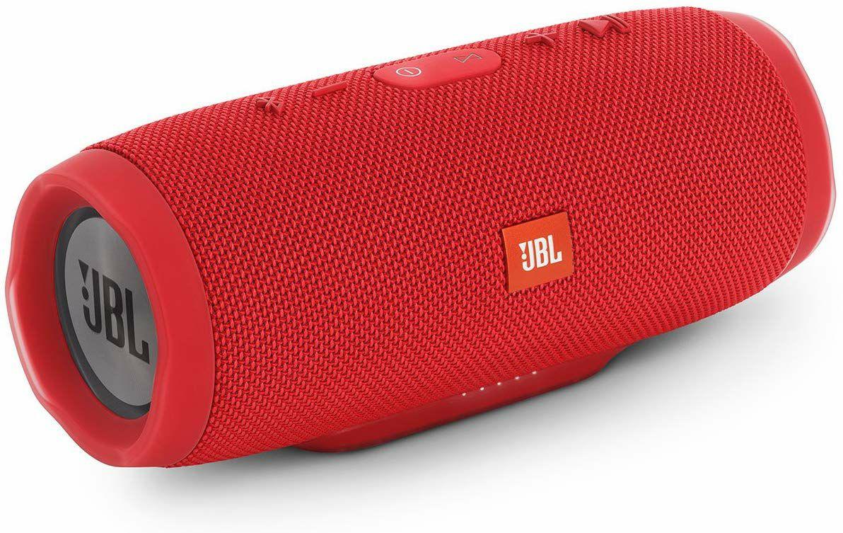 JBL Charge 3 Tragbarer Bluetooth-Lautsprecher - wasserdicht, mit 6000 mAh Power Bank, Rot (Amazon.es)