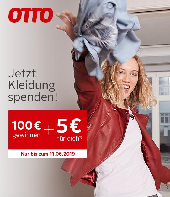 """Otto + Initiative """"Platz schaffen mit Herz"""": 5€ Gutscheincode für ein Paket Altkleider"""