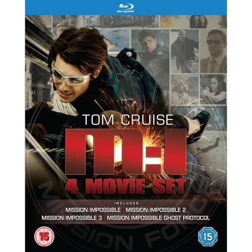 Mission Impossible: Quadrilogy (1-4 Box Set) [UK Blu-ray] für 25,03€ @AMAZON.UK