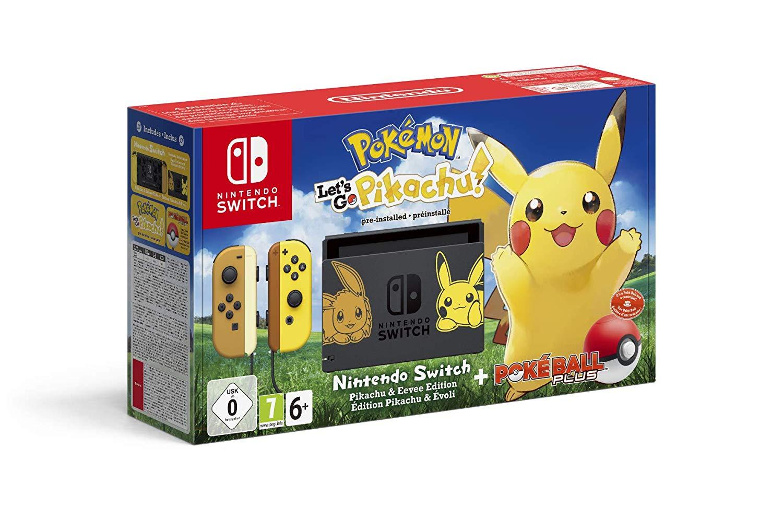 Nintendo Switch Pikachu & Evoli Edition + Pokémon: Let's Go, Pikachu + Pokéball Plus