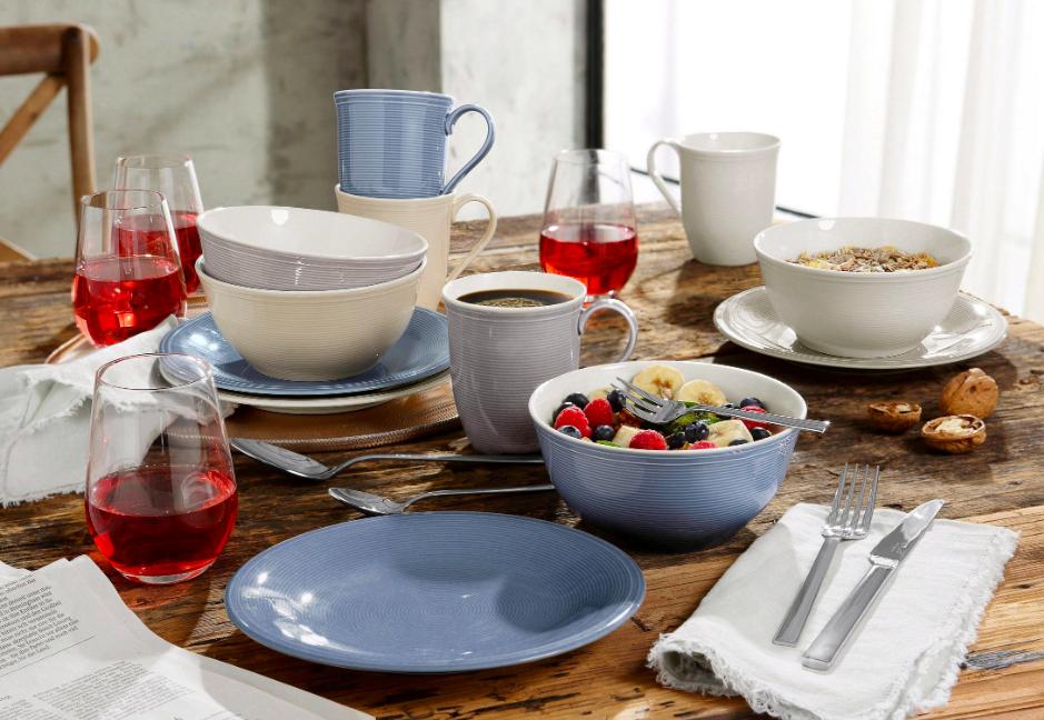 16-teiliges Frühstücksset Vivo Color Loop für 4 Personen von Villeroy & Boch