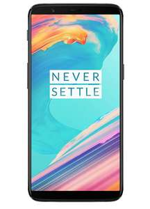 "OnePlus 5T black 6"" (15,24 cm) 8GB RAM, 128GB Speicher, Dual-SIM, 16MP Kamera, AMOLED Display, Snapdragon 835, USB-C, 3.300 mAh, Android 9.0"