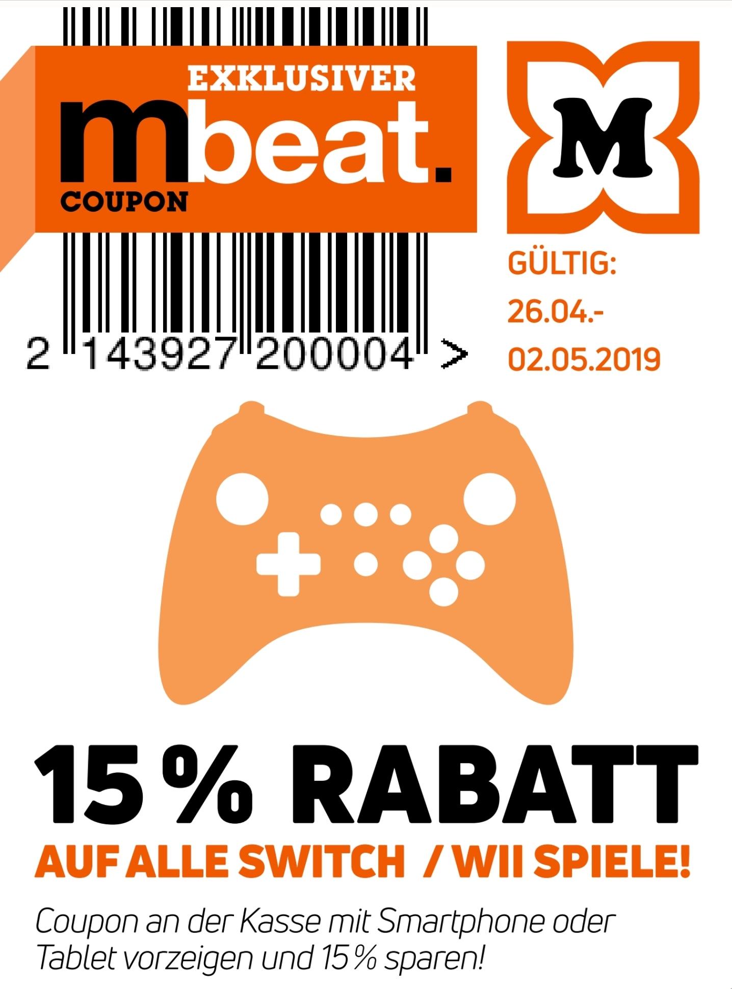 15% auf alle Nintendo Switch & Wii Spiele z.B. NBA 2K Playgrounds 2 für 12,74€ o. Asterix&Obelix XXL 2 für 33,99€ [Müller offline]