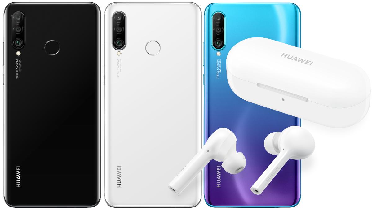 Huawei P30 Lite mit Congstar Allnet Flat (4GB LTE, 50 Mbit/s, Telekom-Netz) für mtl. 25€ und 4,95€ Zuzahlung + FreeBuds Lite Kopfhörer