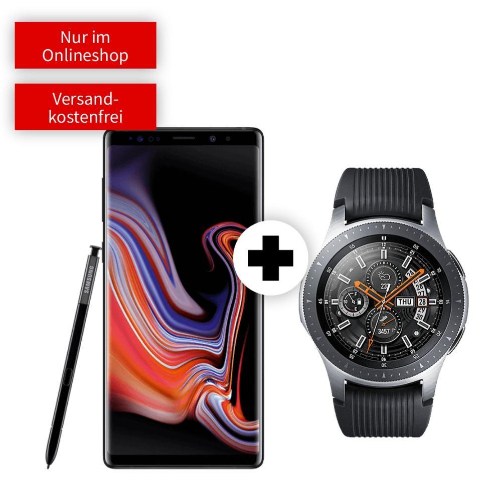 Samsung Galaxy Note 9 128GB und Watch 46mm BT im Debitel (Vodafone, 2GB LTE, Allnet) mtl. 26,99€ und einmalig 79€