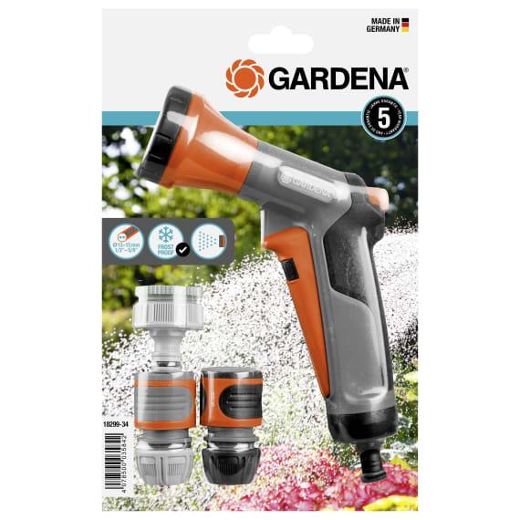 Gardena-Aktion  1 x Bewässerungsbrause, 1 x Wasserstop, 1 x Schlauchverbinder, 1 x Hahnverbinder, 1 x Adapter (Baywa Marktabholung)