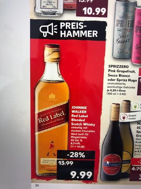 [Kaufland Bundesweit] Johnnie Walker Red Label 0,7l
