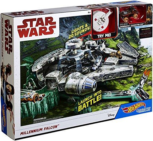 Hot Wheels DWM85 Star Wars Episode 8 Millennium Falke Spielset, Millennium Falcon Spielzeug ab 4 Jahren