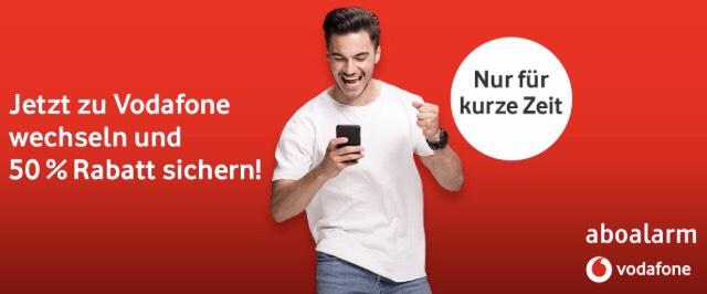 Vodafone Red S, M, L mit 50% Rabatt