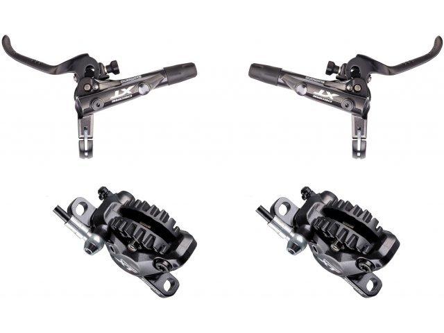 Shimano Deore XT Vorderrad + Hinterrad Set Scheibenbremse BR-M8000 mit J02A Resinbelag