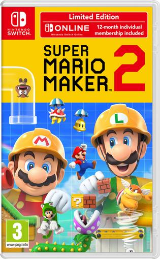 Super Mario Maker 2 Limited Edition inkl. 12 Monate Nintendo Switch Online + Schlüsselanhänger für 55,55€ (Base + Shopto)