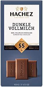 Hachez Schokolade dunkle Vollmilch  und milde Vollmilch 100 g Tafel für 1,19 bei Rossmann