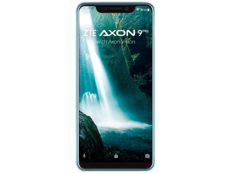 "ZTE AXON 9 PRO Blau (6,21"" AMOLED, Snapdragon 845, 6/128 GB, 4000 mAh, Dual SIM, 179g)"