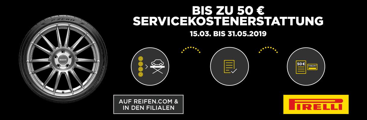 (AB 18 ZOLL) PIRELLI REIFEN KAUFEN UND BIS ZU 50 EURO SERVICEKOSTEN ERSTATTET BEKOMMEN