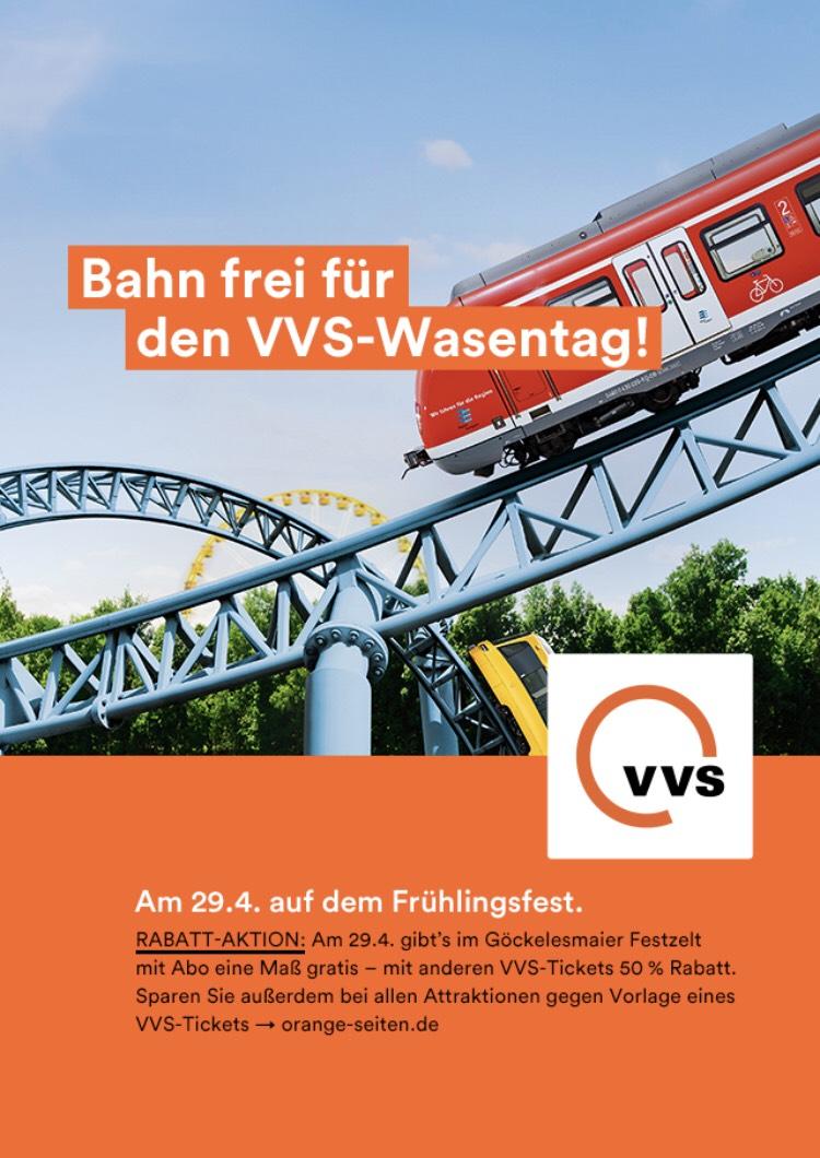 [Stuttgart] VVS Tag auf dem Frühlingsfest / 1 Maß gratis